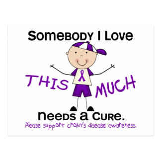 Somebody I Love - Crohns Disease (Boy) Postcard