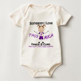 Somebody I Love - Crohns Disease (Girl) Baby Bodysuit