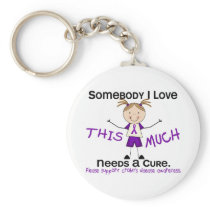 Somebody I Love - Crohns Disease (Girl) Keychain