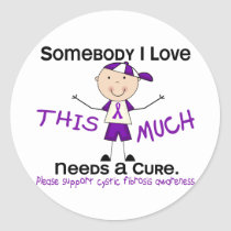 Somebody I Love - Cystic Fibrosis (Boy) Classic Round Sticker