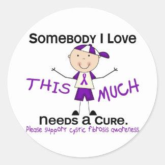 Somebody I Love - Cystic Fibrosis (Boy) Classic Round Sticker