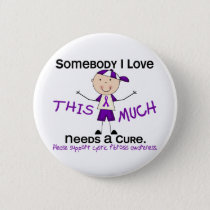 Somebody I Love - Cystic Fibrosis (Boy) Pinback Button