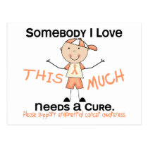 Somebody I Love - Endometrial Cancer (Boy) Postcard