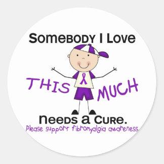 Somebody I Love - Fibromyalgia (Boy) Classic Round Sticker