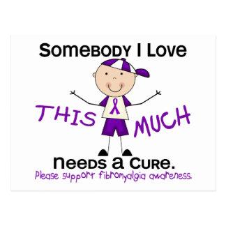 Somebody I Love - Fibromyalgia (Boy) Postcard