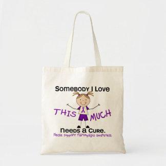 Somebody I Love - Fibromyalgia (Girl) Canvas Bag