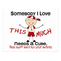 Somebody I Love - Head and Neck Cancer (Boy) Postcard