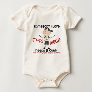 Somebody I Love - Juvenile Diabetes (Boy) Baby Bodysuit