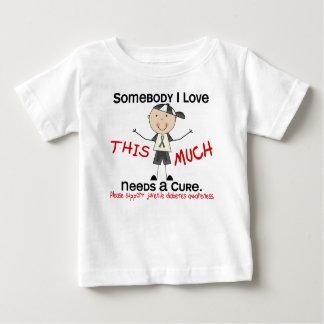 Somebody I Love - Juvenile Diabetes (Boy) Baby T-Shirt