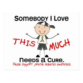 Somebody I Love - Juvenile Diabetes (Boy) Postcard