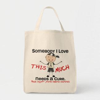 Somebody I Love - Juvenile Diabetes (Boy) Tote Bag