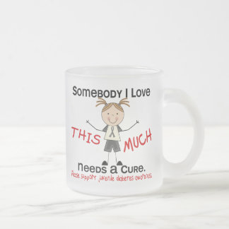 Somebody I Love - Juvenile Diabetes (Girl) 10 Oz Frosted Glass Coffee Mug