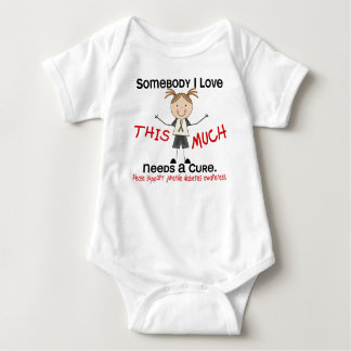 Somebody I Love - Juvenile Diabetes (Girl) Baby Bodysuit