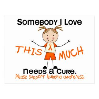 Somebody I Love - Leukemia (Girl) Postcard