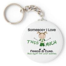 Somebody I Love - Liver Cancer (Girl) Keychain