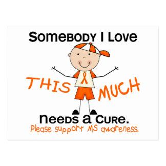 Somebody I Love - MS (Boy) Multiple Sclerosis Postcard