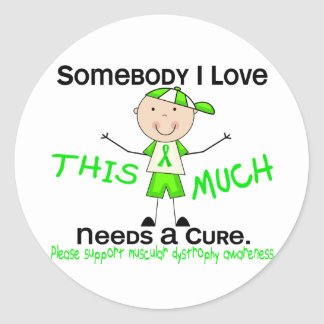 Somebody I Love - Muscular Dystrophy (Boy) Classic Round Sticker