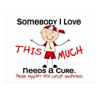 Somebody I Love - Oral Cancer (Boy) Postcard