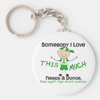 Somebody I Love - Organ Donation (Boy) Basic Round Button Keychain