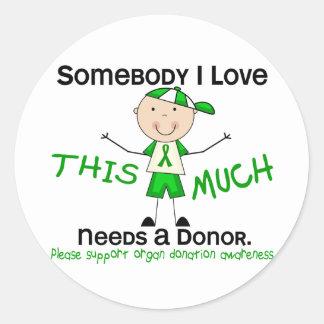 Somebody I Love - Organ Donation (Boy) Classic Round Sticker