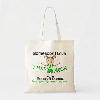 Somebody I Love - Organ Donation (Girl) Canvas Bag