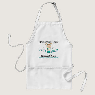 Somebody I Love - Ovarian Cancer (Girl) Adult Apron