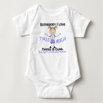 Somebody I Love - Prostate Cancer (Girl) Baby Bodysuit