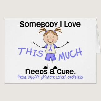 Somebody I Love - Prostate Cancer (Girl) Card