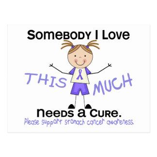Somebody I Love - Stomach Cancer (Girl) Postcard