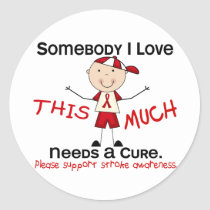 Somebody I Love - Stroke (Boy) Classic Round Sticker