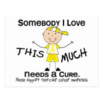 Somebody I Love - Testicular Cancer (Boy) Postcard