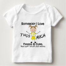 Somebody I Love - Testicular Cancer (Girl) Baby T-Shirt