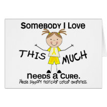 Somebody I Love - Testicular Cancer (Girl) Card