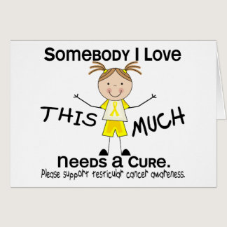 Somebody I Love - Testicular Cancer (Girl) Card