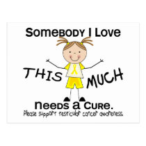 Somebody I Love - Testicular Cancer (Girl) Postcard