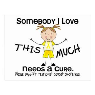 Somebody I Love - Testicular Cancer (Girl) Postcard