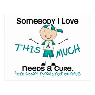 Somebody I Love - Thyroid Cancer (Boy) Postcard