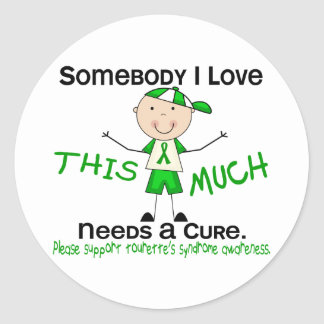 Somebody I Love - Tourettes Syndrome (Boy) Classic Round Sticker