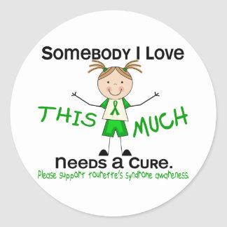Somebody I Love - Tourettes Syndrome (Girl) Classic Round Sticker