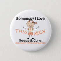 Somebody I Love - Uterine Cancer (Boy) Button