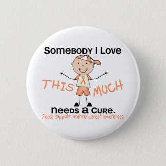 Somebody I Love - Uterine Cancer (Boy) Button
