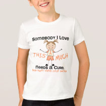 Somebody I Love - Uterine Cancer (Girl) T-Shirt