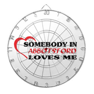 Somebody in Abbotsford loves me Dartboard With Darts