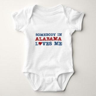Somebody In Alabama Loves Me Baby Bodysuit