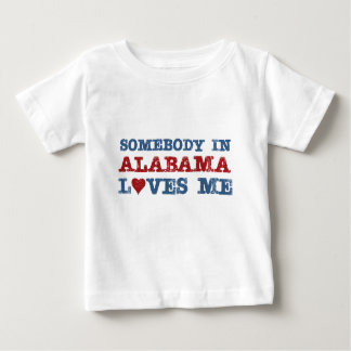 Somebody In Alabama Loves Me Baby T-Shirt