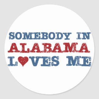 Somebody In Alabama Loves Me Classic Round Sticker