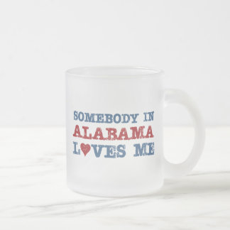 Somebody In Alabama Loves Me Frosted Glass Coffee Mug