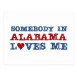 Somebody In Alabama Loves Me Post Card