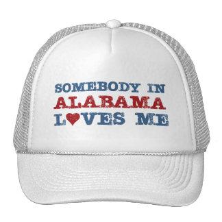 Somebody In Alabama Loves Me Trucker Hat