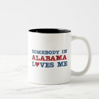 Somebody In Alabama Loves Me Two-Tone Coffee Mug